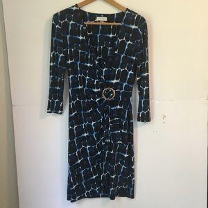Calvin Klein blue wrap dress